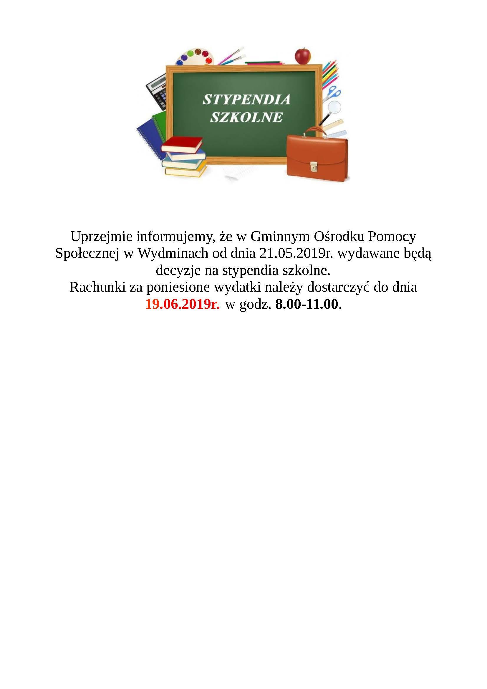 inf. stypendium szkolne
